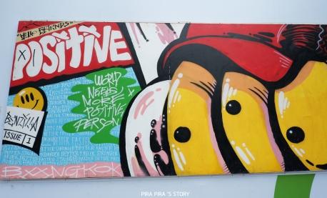 Samyan Mitrtown artist collaboration 3 Manee Meejai street art pira pira story