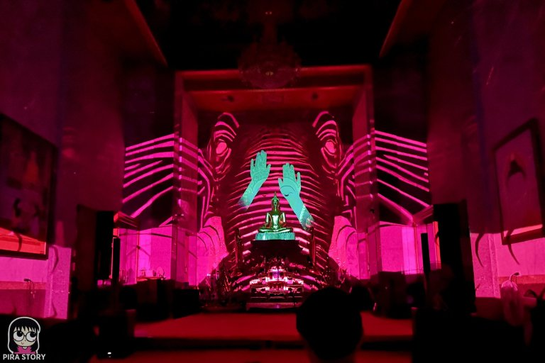 18 Bodhi Theater โพธิ เธียเตอร์ งานศิลปะดิจิทัล วัดสุทธิวราราม เจริญกรุง Pira Story BTS สะพานตากสิน