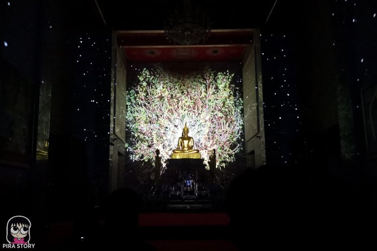 9 Bodhi Theater โพธิ เธียเตอร์ งานศิลปะดิจิทัล วัดสุทธิวราราม เจริญกรุง Pira Story BTS สะพานตากสิน