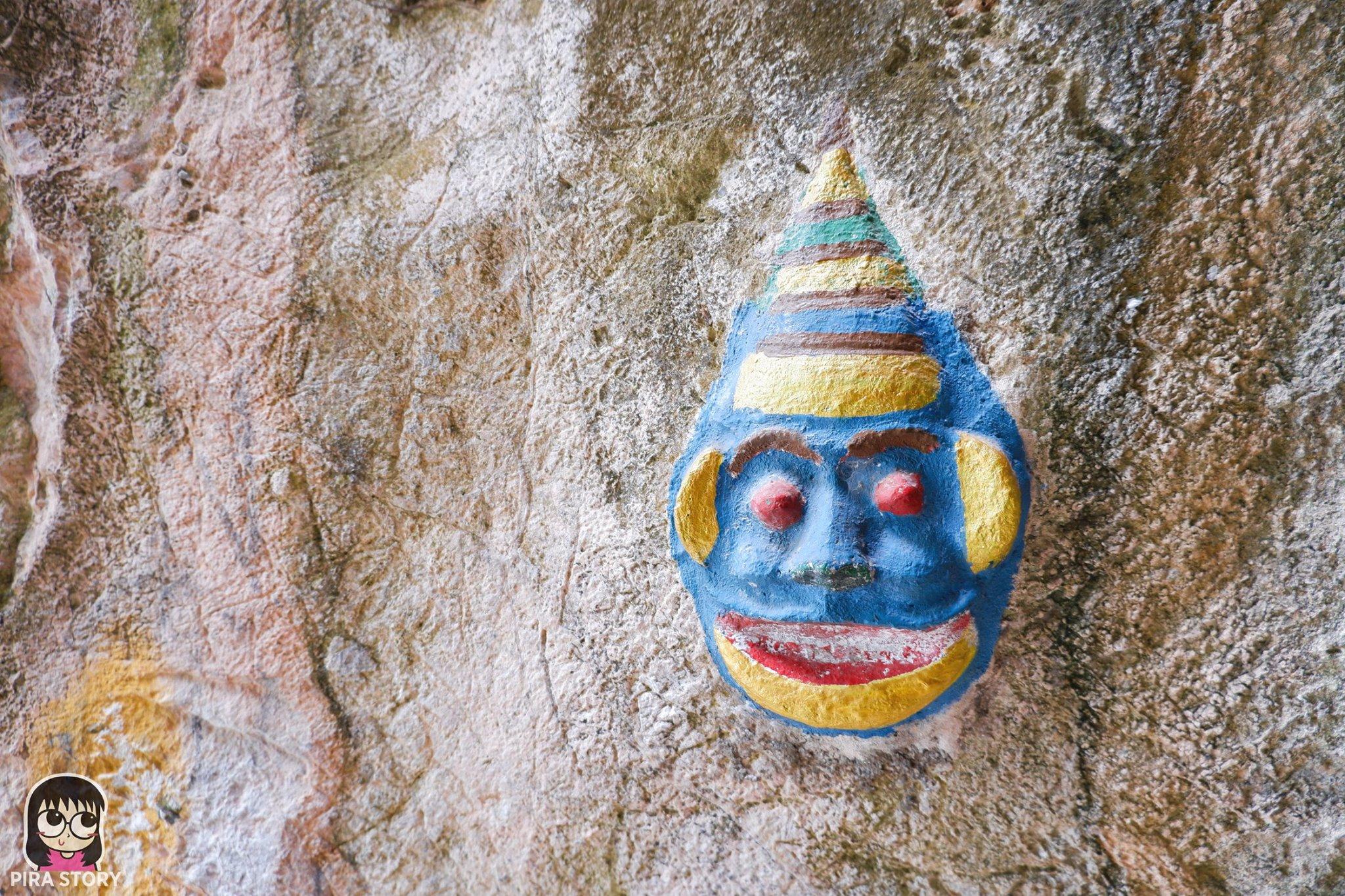 ปูนปั้น เทวดา ยักษ์ เทพเจ้า ถ้ำโบสถ์โบราณ อยุธยา พระนเรศวร ชะอำ เพชรบุรี